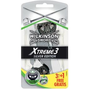 Wilkinson Sword Xtreme 3 Silver Edition holiaci strojček pre mužov 4 kusy