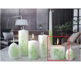Lima Květinová svíčka zelená krychle 65 x 65 mm 1 kus