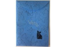 Albi Pouzdro na dokumenty modré Origami A6 105 x 148 mm