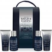 Baylis & Harding Limetka a Mäta 2v1 šampón a sprchový gél 100 ml + pleťový umývací gél 100 ml + balzam po holení 50 ml + sprchový gél 50 ml, kozmetická sada pre mužov