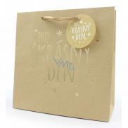 Nekupto Darčeková papierová taška strednej 23 x 23 x 10 cm Pre krásny deň 001 NDW