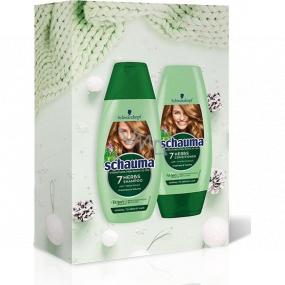 Schauma 7 bylín šampón na vlasy 250 ml + kondicionér na vlasy 200 ml, kozmetická sada