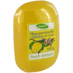 Kappus Čerstvý citrón glycerínové toaletné mydlo s rastlinným olejom 100 g