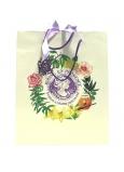 Jeanne en Provence Darčeková papierová taška strednej 24,5 x 30 cm biela s logom