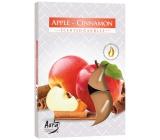 BISPOL Aura Apple-Cinnamon - Jablko a škorica vonné čajové sviečky 6 kusov