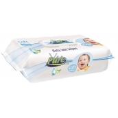 Pure Soft vlhčené obrúsky s klipom 120 ks rôzne farby
