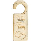 Albi drevená visačkana dvere Svadba 9187