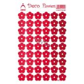 Arch Holografické dekoračné samolepky kvety červené
