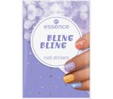Essence Bling Bling Nail Stickers nálepky na nechty 28 kusov