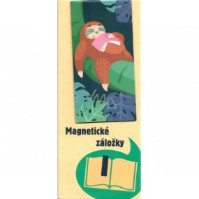 Albi Magnetická záložka do knižky Leňochod spiace s knihou 8,7 x 4,4 cm