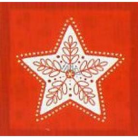 Nekupto Vianočné kartičky na darčeky Biela hviezda 6,5 x 6,5 cm 6 kusov