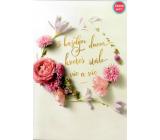 Albi Hracie prianie do obálky K narodeninám fotenie kvety Ruže kvitnú ďalej Helena Vondráčková 14,8 x 21 cm