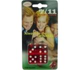 Hm Studio Hrací kostky hra 7/11 - žertovný předmět 4 kusy