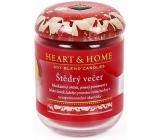 Heart & Home Štědrý večer Sojová vonná svíčka střední hoří až 30 hodin 110 g