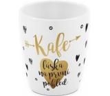 Albi Hrnek se zlatým textem Kafe - láska na první pohled 300 ml