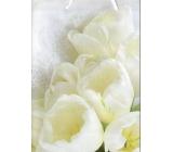 Nekupto Dárková papírová taška střední 26 x 32,5 x 12,5 cm, Tulipány 1648 02 KFL