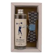 Bohemia Gifts Soľ z Mŕtveho mora Sportsman sprchový gél 250 ml + drevený motýlik, pre mužov kozmetická sada