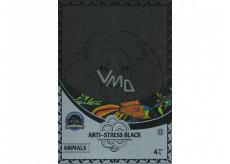 Antistresové relaxačný čierne maľovanky zvieratá 21 x 30 cm, 4 kusy