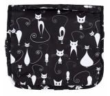 Albi Original Cestovná závesná kozmetická taška - Mačky 24 cm × 19 cm × 3 cm