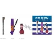 Miss Sporty Pump Up Booster extra black riasenka 12 ml + Lasting Color lak na nechty 151 7 ml + Eyebrow ceruzka na obočie 002 1,8 g, kozmetická sada