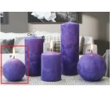 Lima Ľadová sviečka fialová guľa 80 mm 1 kus