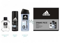 Adidas Dynamic Pulse voda po holení 50 ml + 3v1 sprchový gél na telo a vlasy 250 ml + dezodorant sprej 150 ml, kozmetická sada