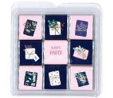 Nekupto Čokoládové puzzle vianočné Darčeky 11 x 11,5 x 0,7 cm, 9 x 5 g