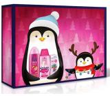 Fa Kids Morská panna sprchový gél 250 ml + Schauma Kids Girl šampón na vlasy 250 ml + Vademecum Junior Jahoda zubná pasta 75 ml, kozmetická súprava pre dievčatá