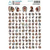 Arch Školské mini samolepky indiáni
