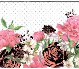Nekupto Dárková papírová taška střední 23 x 17,5 x 10 cm, Květy 1585 LFM
