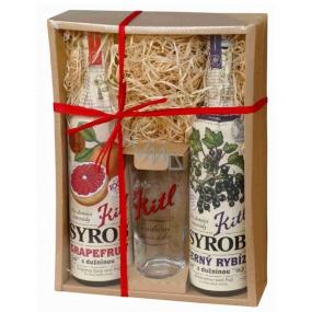 Kitl Syrob Bio Čierne ríbezle s dužinou + Grapefruit s dužinou pre domáce limonády 2 x 500 ml darčekové balenie