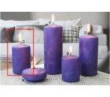 Lima Ľadová sviečka fialová valec 60 x 90 mm 1 kus