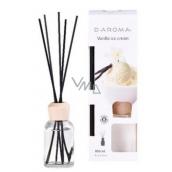 D-aroma- Vanilla ice cream - Vanilková zmrzlina aróma difuzér s tyčinkami pre postupné uvoľňovanie vône 100 ml
