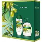 Palmolive Naturals Olive & Milk sprchový krém 250 ml + Olive & Milk tekuté mydlo dávkovač 300 ml, kozmetická sada