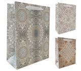 Emóciám Darčeková papierová taška 10 x 15 x 5 cm Ornamenty rôzne druhy