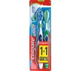 Colgate 360° Whole Mouth Clean střední zubní kartáček 1 + 1 ks
