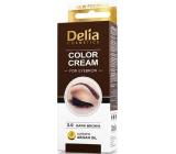 Delia Color Cream farbiace krém na obočie 3.0 Tmavohnedá 15 ml + 15 ml