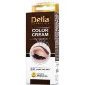 Delia Color Cream barvící krém na obočí 3.0 Tmavě hnědá 15 ml + 15 ml