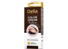 Delia Color Cream barvící krém na obočí a řasy Tmavě hnědá 15 ml + 15 ml