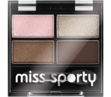 Miss Sporty Studio Colour Quattro Eye Shadow oční stíny 407 Mysterious Smoky 3,2 g