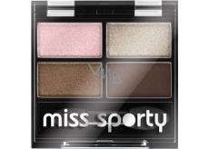 Miss Sporty Studio Colour Quattro Eye Shadow oční stíny 407 Mysterious Smoky 3,2 g