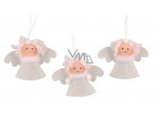 Anděl bílý 3,5 cm, 3 kusy v sáčku