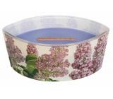 WoodWick Decal Lilac - Šeřík vonná svíčka s dřevěným širokým knotem a víčkem sklo loď 453 g