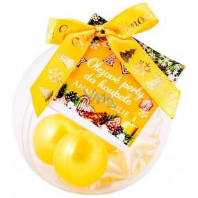 NeoCos Ananás a Ľalie olejové perly do kúpeľa žltej 5 kusov, darčekové balenie