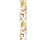 Ditipo Vianočný baliaci papier pre deti biely medveď na stoličke 100 x 70 cm 2 kusy