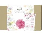 Fenjal Floral Fantasy sprchový gél pre ženy 200 ml + telové mlieko 200 ml + špongia, kozmetická sada