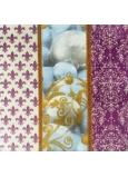 Nekupto Papierové obrúsky vianočné fialové s banky 3 vrstvové 33 x 33 cm 20 kusov