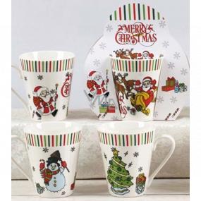 Vianočný keramický hrnček dizajn mix Santa, Snehuliak, Stromček 310 ml