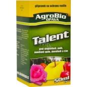 AgroBio Talent prípravok proti plesniam, múčnatke, chrastavitosti, škvrnitosti a hrdzi na ochranu rastlín 10 ml