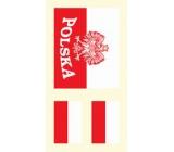 Arch Tetovací obtisky na obličej i tělo Polsko vlajka 2 motiv